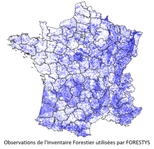Observations de l'Inventaire Forestier National