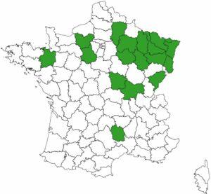 Carte des références de FORESTYS en mars 2021